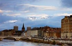 Grenoble-Ansicht Lizenzfreie Stockfotos