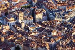 Grenoble architecture - aerial panorama Stock Photos