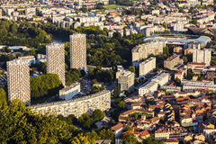 Grenoble architecture - aerial view Royalty Free Stock Photo