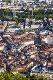Grenoble arkitektur - flyg- sikt Arkivbild