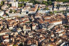 Grenoble arkitektur - flyg- sikt Royaltyfria Foton