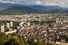 Grenoble arkitektur - flyg- sikt Royaltyfri Bild