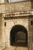 Grenoble Bastille. Fortress entrance view royalty free stock photography
