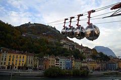 Grenoble Bastille Arkivbild
