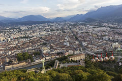 Grenoble-Bastille cable car Stock Photo