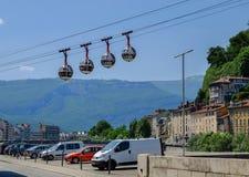Grenoble-Bastille cable car (Les bulles stock photos
