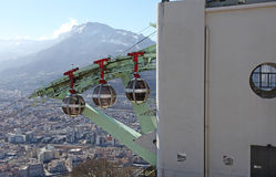 Grenoble cable car funicular. France Stock Images