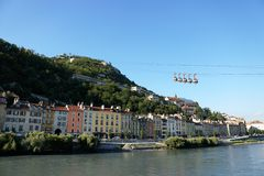 Grenoble cablecars Stock Images