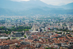 Grenoble city from above. Royalty Free Stock Photo