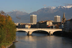 Grenoble city center Royalty Free Stock Photography