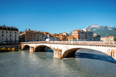 Grenoble city in France Stock Photography