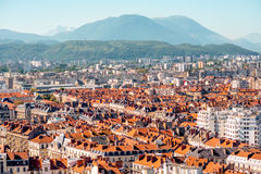 Grenoble city in France Royalty Free Stock Image