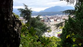 Grenoble, city of France. stock footage
