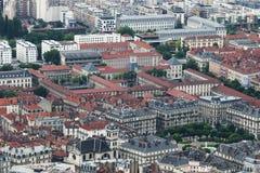 High School Champollion, seen from Bastilla mountain, Grenoble royalty free stock photos