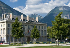 Grenoble city square Royalty Free Stock Photos