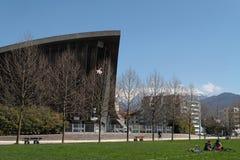 Grenoble das Olympiastadion in Paul Mistral Park Stockfotografie