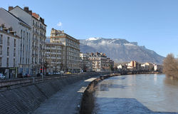 Grenoble, France. Isere River Stock Images