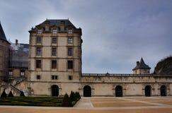 GRENOBLE, FRANKRIJK - 24 DECEMBER 2012: Chateau van Vizille royalty-vrije stock foto