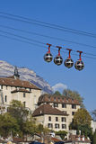 Grenoble-funikuläres Gleis lizenzfreies stockfoto