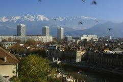 Grenoble l'intervallo di Belledone. La Francia Fotografia Stock Libera da Diritti
