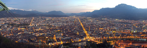 Grenoble by night Royalty Free Stock Photography