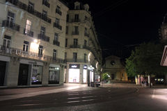 Grenoble at night Stock Image