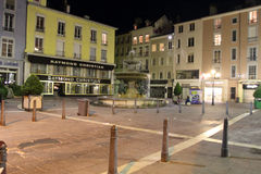 Grenoble at night Stock Photography