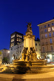 Grenoble at night Stock Images