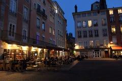 Grenoble at night Royalty Free Stock Photos