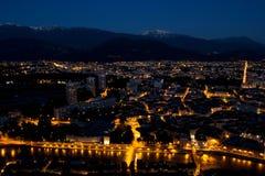 Grenoble noc obrazy royalty free