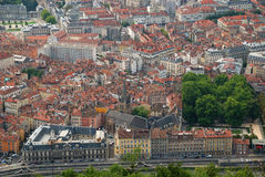 Grenoble old city from above. Royalty Free Stock Photo