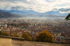 Grenoble panorama Stock Image