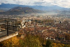Grenoble panorama Stock Images