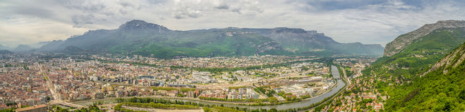Grenoble panorama Stock Photos
