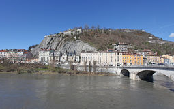 Grenoble river view. France Royalty Free Stock Photos