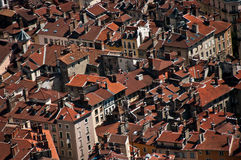 Grenoble roofs in France Stock Images