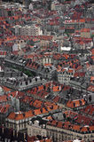 Grenoble rooftops. Rooftops of Grenoble city centre, France Stock Photos