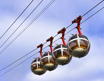 Grenoble's iconic cable cars Royalty Free Stock Image