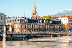Grenoble stad i Frankrike Royaltyfri Bild