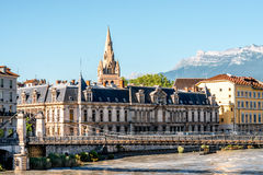 Grenoble stad i Frankrike Royaltyfri Foto