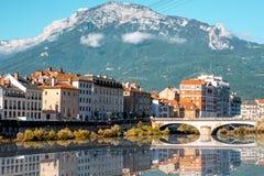 Grenoble stad i Frankrike Royaltyfri Fotografi