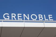 Grenoble tecken på en byggnad Royaltyfri Bild