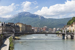 Grenoble. A view of Grenoble in france Royalty Free Stock Photo