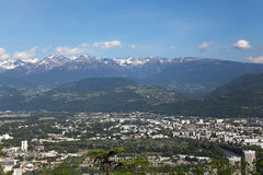 Grenoble, view from mountains Royalty Free Stock Images
