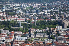 Grenoble, view from mountains Stock Photo