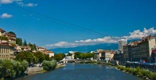 Grenoble wagon kolei linowej Bastille zdjęcia royalty free