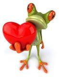 Grenouille avec un coeur