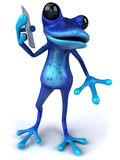 Grenouille bleue Photos libres de droits