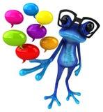 Grenouille bleue d'amusement - illustration 3D illustration stock