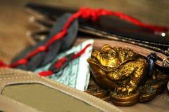 Grenouille chanceuse d'argent de shui chinois de feng Image stock